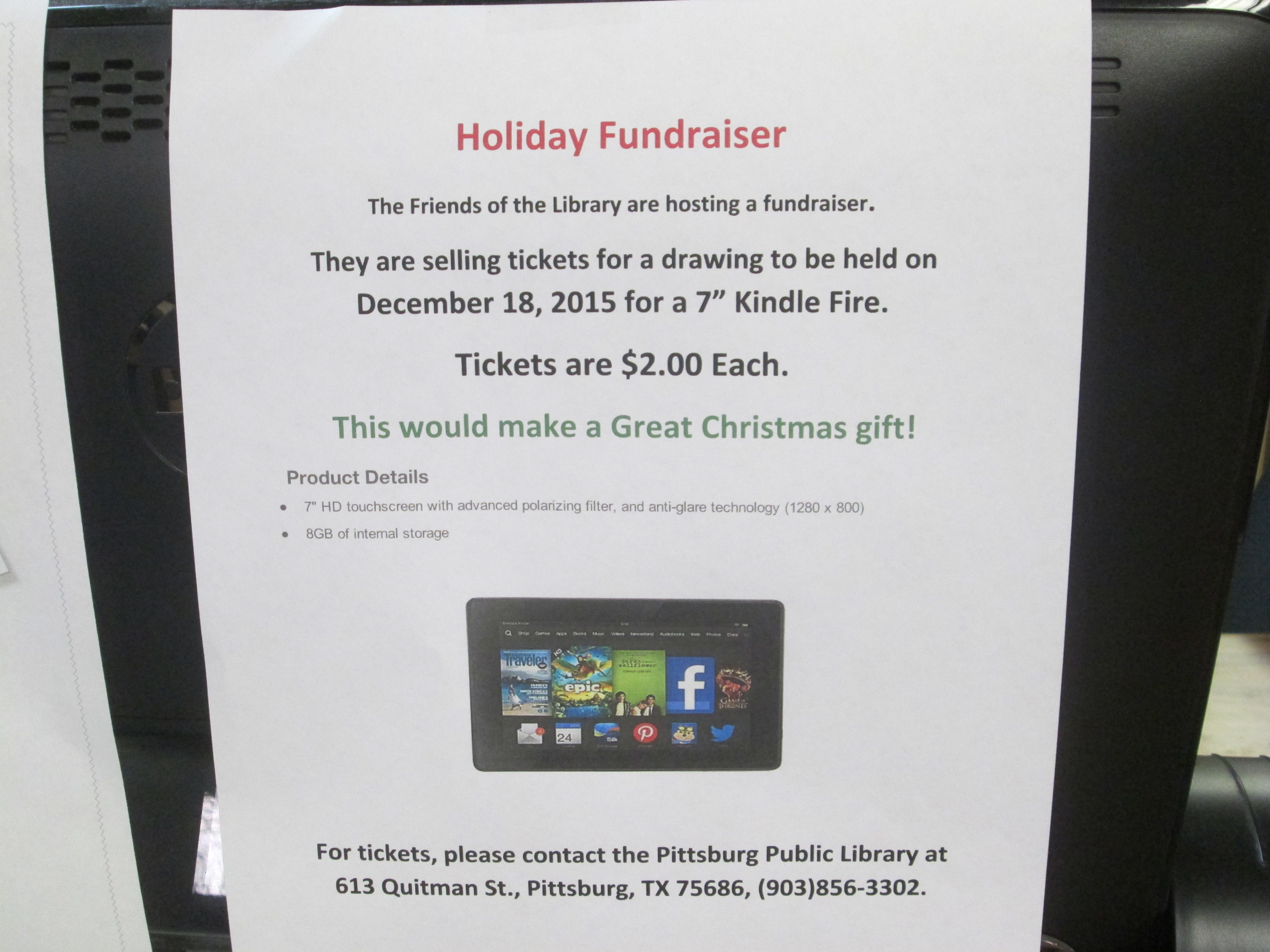 Christmas Display & Kindle Fundraiser 002.JPG