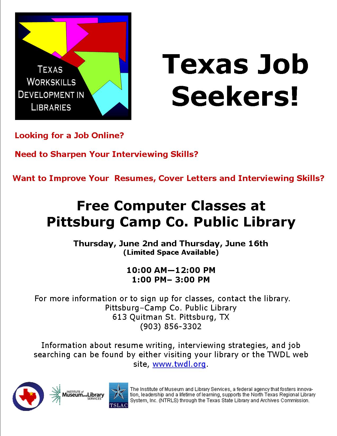 Texas Job Seekers Poster